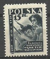 Poland 1948 Mi 485 Fi 454 MNH  - WW2