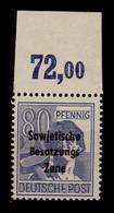 SBZ 1948 Nr 196 Postfrisch (401840) - Soviet Zone