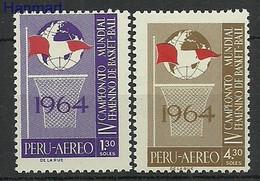 Peru 1965 Mi 645-646 Postfrisch  - Basketbal