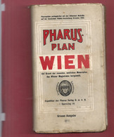 """PHARUS-PLAN """" WIEN """"   1911  .  LIVRET DES RUES & MONUMENTS DECCROCHE DU LIVRE ..  DEPLIANT COMPLET - Tourism Brochures"""