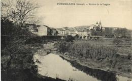 POUZOLLES (Herault ) Village Et Rivière De La Tongue Recto Verso - Otros Municipios