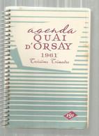 JC ,agenda 3 E Trimestre 1961 , Cigares QUAI D'ORSAY , 3  Scans , Frais Fr 2.95 E - Other