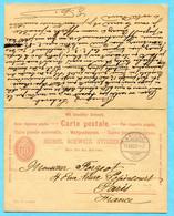 Doppel-Antwort Postkarte Von Brienz Nach Paris Retour - Stamped Stationery