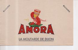 Buvard Amora La Moutarde De Dijon Avec Illustration D'une écrevisse - Mostard