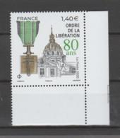 FRANCE / 2020 / Y&T N° 5458 ** : 80 Ans De L'Ordre De La Libération X 1 CdF Ind D - Nuevos