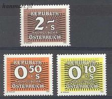 Austria 1986 Mi Por 264-266 MNH  - Zonder Classificatie