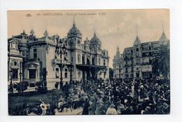 - CPA MONACO - MONTE-CARLO - Place Du Casino Pendant Le Thé (belle Animation) - Photo CAP N° 50 - - Casino