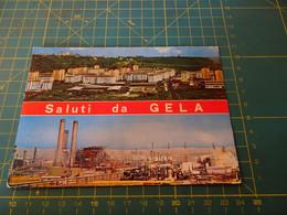 158320 SALUTI DA GELA SPEDITA MANCA FRANCOBOLLO - Gela