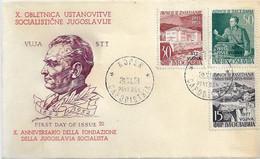 Fdc Ditta Ignota: PARLAMENTO DI AVNOJ (1953) No Viaggiata - Marcofilie
