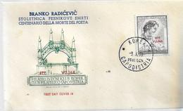 Fdc Ditta Ignota: B. RADICEVIC (1953) No Viaggiata - Marcofilie