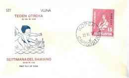 Fdc SETTIMANA DELL'INFANZIA (1952) No Viaggiata - Marcofilie