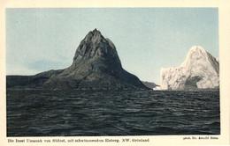 Grönland, Die Insel Umanak Von Südost, Mit Schwimmendem Eisberg, Phot. Dr. Arnold Heim - Greenland