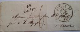 CALVADOS - LSC Avec Cursive De Litry Et Cachet T12 De Bayeux Du 23/11/1830 Pour Paris Le 25 - TM 6 - 2 Photos - 1801-1848: Precursors XIX