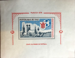Mali 1973 World Cup Minisheet MNH - Mali (1959-...)