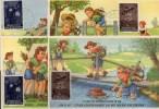 Junge Pfadfinder 1957 Liechtenstein (FDC) 360 MK 1+2, 361 MK 1+2 O 48€ Baden-Powell Fackelzug Scouts Maxicards Of FL - Maximumkaarten