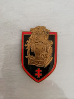 TE26983 INSIGNE MILITAIRE  CDT DU GENIE FTEO  FAB DRAGO PARIS-NICE RUE ROMAINVILLE H335 MANQUE PEUT ETRE UNE PASTILLE - Esercito