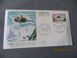 Helicoptere Alouette 1000 F Fec Enveloppe 1 Er Jour - 1950-1959
