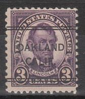 Locals USA Precancel Vorausentwertung Preo, Bureau California, Oakland 635-243 - Precancels