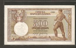 Serbie, 500 Dinara, 1942 Issue - Serbia