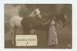 HAPPY HOLIDAYS , Woman & Horses  ( 2 Scans ) - Sin Clasificación