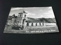 Puno Iglesia Tipica De La Sierra En Lampa Chiesa PERU ANNULLO ROSSO - Peru