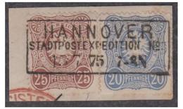 1875 -- ALLEMAGNE -- EMPIRE -- 20 ET 25 PFENNIGE SUR FRAGMENT -- - Oblitérés