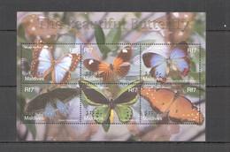 XX714 MALDIVES BUTTERFLIES FAUNA THE BEAUTIFUL BUTTERFLY 1KB MNH - Butterflies