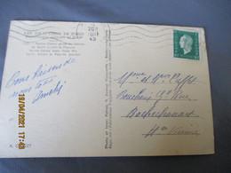 Timbre Marianne Dulac 80 C Vert Seul Sur Lettre 1945 - 1921-1960: Moderne