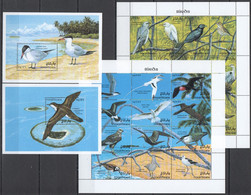 XX723 MALDIVES FAUNA MARINE LIFE BIRDS MICHEL 38 EURO 2KB+2BL MNH - Other