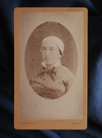 Photo CDV  Lorans à Nevers  Portrait Femme  Coiffe Régionale  CA 1880 - L547 - Alte (vor 1900)