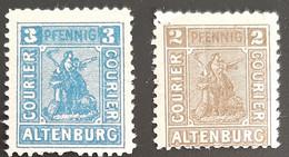 Germany Stadtpost/Privatpost Altenburg 2 & 3 Pfg Michel 14/15 A - Sello Particular