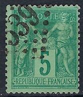"""FRANCE """"Sage"""":  Jour De L'An, """"GC 1539"""" - 1876-1898 Sage (Tipo II)"""