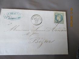 1869 Lettre Cachet Type 16 Montivilliers  Gros Chiffre 2479 Sur Lettre Timbre Ceres - 1849-1876: Klassieke Periode