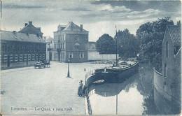 Lessines.  -  Le Quai, I Juin 1908.  (scan Verso) - Lessines