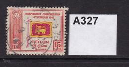 Ceylon 1949 First Anniversary Of Independence 15c - Ceylan (...-1947)