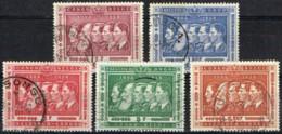 CB 7 - CONGO BELGE Centenaire Du Congo 5 Val. Série Des Rois Obl. - 1947-60: Used
