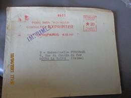 Ema Empreinte Machine Affranchirexprinter Paris 49 , Postes C 0404 - EMA (Printer Machine)