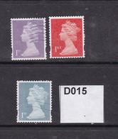 Great Britain Y Series NVI 1st (3 Colours) - Oblitérés