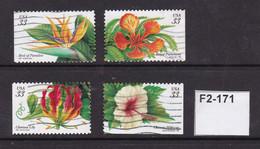 USA 1999 Tropical Flowers - Oblitérés