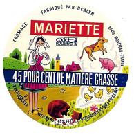 ETIQU CAMEMB.ROM. MARIETTE Cadet Roussel UCAYN Monéteau Yonne - Cheese