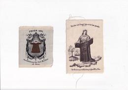 2 X Stoffen Devotie - Devotion - Aandenken -  Trier 1891 - Religion &  Esoterik