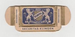 Scheermesje - Razor Blade Securitas Klingen Safety Razor Blade Solingen Germany (D) - Razor Blades