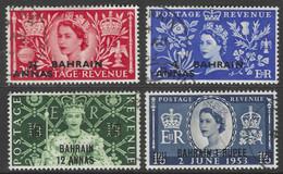 Bahrain. 1953 QEII Coronation. Used Complete Set. SG 90-93 - Bahrain (...-1965)