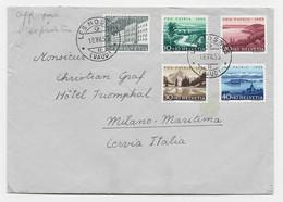 HELVETIA SUISSE PRO PATRIA SURTAXE 5C+10C+20C+30C+40C LETTRE COVER LES MOSSES 18.VII.1955 VAUD TO ITALIA - Unclassified