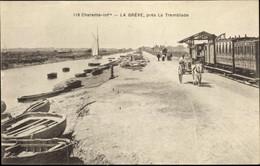 CPA La Greve La Tremblade Charente Maritime, Bahnhof, Gleisseite, Kutsche - Otros Municipios