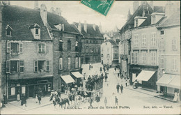 70 VESOUL /  Place Du Grand Puits / CARTE ANIMEE - Vesoul