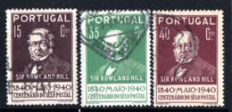 N° 600,602,603 - 1940 - Used Stamps