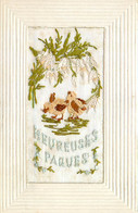 Fantaisie , Carte Brodée  , Paques , * 431 31 - Embroidered