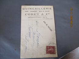 91 Arpajon Quincaillerie Coret Fer Carte Publicite Publicitaire - Arpajon