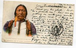 """INDIENS D'Amérique   """" Buckskin Charlie """" Sub Chief Of The Utes  écrite 1902 Timbrée     D11 2021 - Native Americans"""